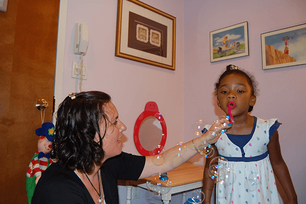 speech-language therapy bubbles
